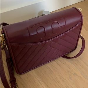 Alexa Combo Imperial Garnet quilted leather bag
